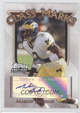 2005 Topps Draft Pick & Prospects - Class Marks #CM-MJ - Marlin Jackson
