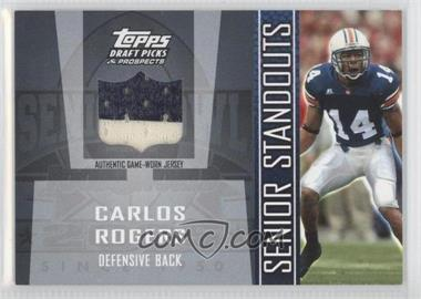 2005 Topps Draft Pick & Prospects - Senior Standouts Relics #SS-CR2 - Carlos Rogers