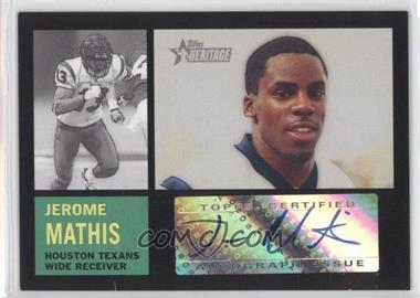2005 Topps Heritage - Real One Autographs #ROA-JMA - Jerome Mathis