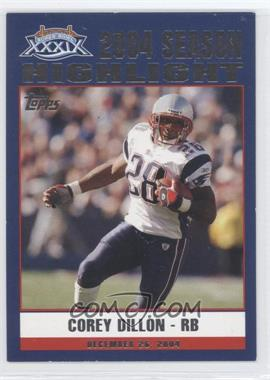 2005 Topps New England Patriots Super Bowl XXXIX Champions - Box Set [Base] #43 - Corey Dillon