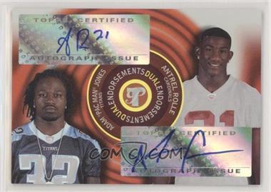 2005 Topps Pristine - Dual Endorsements Autographs #PED-JR - Adam Jones, Antrel Rolle /5