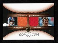 John Elway, Joe Montana #/50