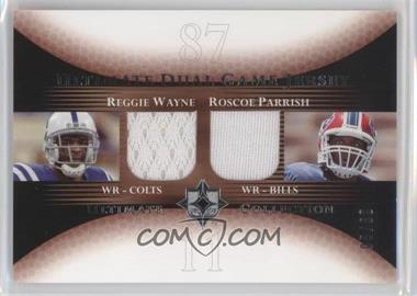 2005 Ultimate Collection - Ultimate Dual Game Jersey #DJ-WP - Reggie Wayne, Roscoe Parrish /50