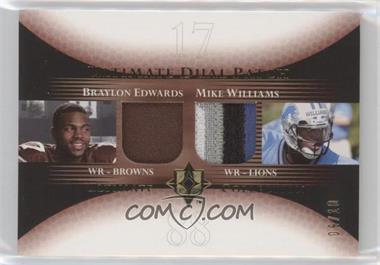 2005 Ultimate Collection - Ultimate Dual Patch - Gold #DP-EW - Braylon Edwards, Mike Williams /10