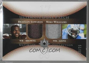 2005 Ultimate Collection - Ultimate Dual Patch #DP-EW - Braylon Edwards, Mike Williams /25 [Noted]