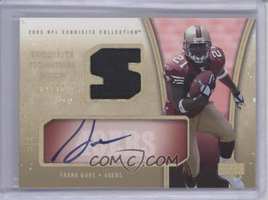 2005 Upper Deck Exquisite Collection - [???] #ESP-FG - Frank Gore /10