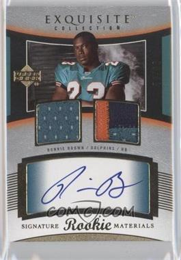 2005 Upper Deck Exquisite Collection - [Base] #114 - Ronnie Brown /99