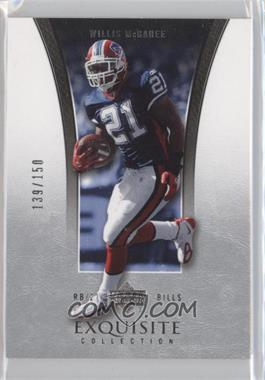 2005 Upper Deck Exquisite Collection - [Base] #5 - Willis McGahee /150