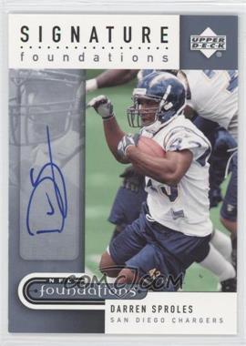 2005 Upper Deck NFL Foundations - Signature Foundations #SF-DS - Darren Sproles