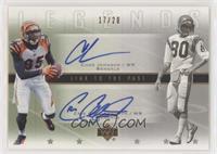 Chad Johnson, Cris Collinsworth #/20
