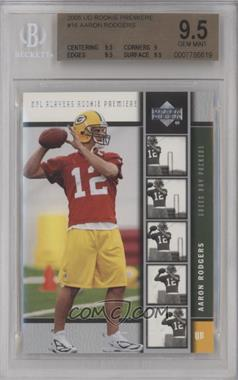 2005 Upper Deck NFL Players Rookie Premiere - [Base] #16 - Aaron Rodgers [BGS9.5GEMMINT]