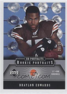 2005 Upper Deck Portraits - [Base] - Platinum #127 - Braylon Edwards /30