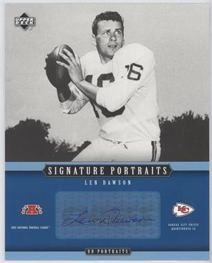 2005 Upper Deck Portraits - Signature Portraits #SP-41 - Len Dawson