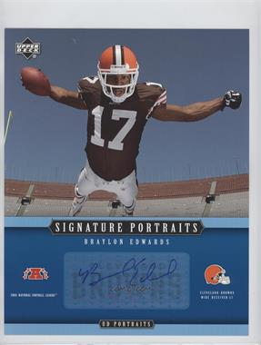 2005 Upper Deck Portraits - Signature Portraits #SP-58 - Braylon Edwards