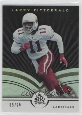 2005 Upper Deck Reflections - [Base] - Black #1 - Larry Fitzgerald /25