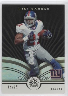 2005 Upper Deck Reflections - [Base] - Black #64 - Tiki Barber /25