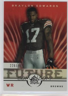 2005 Upper Deck Reflections - [Base] #295 - Braylon Edwards /299