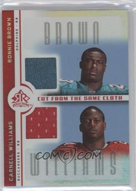 2005 Upper Deck Reflections - Cut from the Same Cloth #CC-BW - Ronnie Brown, Carnell Williams