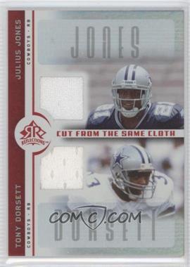 2005 Upper Deck Reflections - Cut from the Same Cloth #CC-JD - Julius Jones, Tony Dorsett