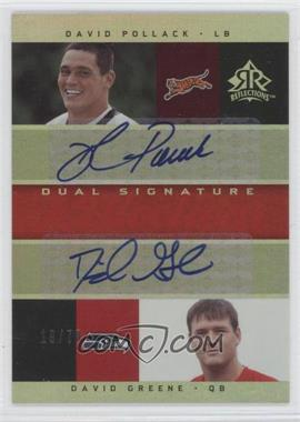 2005 Upper Deck Reflections - Dual Signature Reflections - [Autographed] #DS-PG - Daniel Graham /70