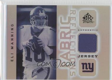 2005 Upper Deck Reflections - Fabric Reflections #FR-EM - Eli Manning