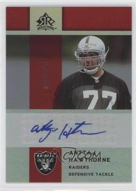2005 Upper Deck Reflections - Rookie Exclusives Autographs - [Autographed] #RE-AH - Anttaj Hawthorne /100