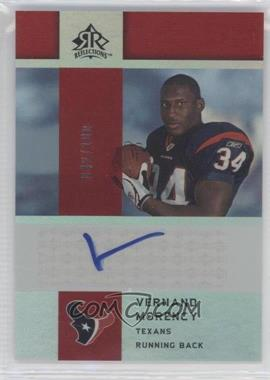 2005 Upper Deck Reflections - Rookie Exclusives Autographs - [Autographed] #RE-VM - Vernand Morency /100
