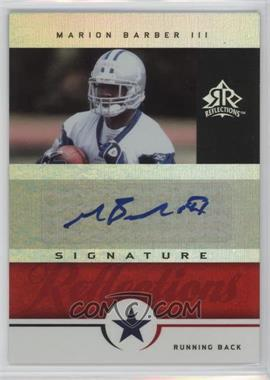 2005 Upper Deck Reflections - Signature Reflections - [Autographed] #SR-MB - Marion Barber III