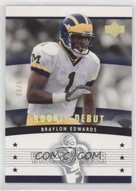 2005 Upper Deck Rookie Debut - [Base] - Gold Spectrum #116 - Braylon Edwards /50