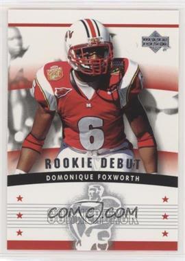 2005 Upper Deck Rookie Debut - [Base] #167 - Domonique Foxworth
