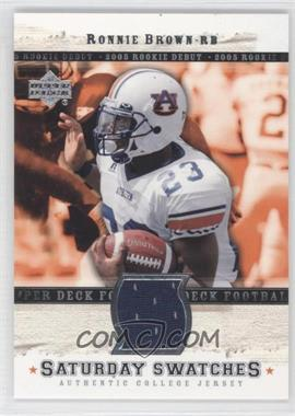 2005 Upper Deck Rookie Debut - Saturday Swatches #SA-RB - Ronnie Brown