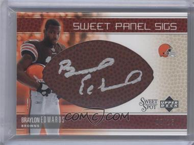 2005 Upper Deck Sweet Spot - Sweet Panel Sigs - Gold #SP-BE - Braylon Edwards /15