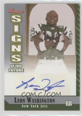 2006 Bowman - Signs of the Future #SF-LW - Leon Washington