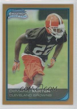 2006 Bowman Chrome - [Base] - Gold Refractor #18 - DeMario Minter /50
