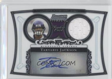 2006 Bowman Sterling - Base Relic Autographs #BS-TJ - Tarvaris Jackson