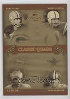 Bart Starr, Johnny Unitas, Don Meredith, Y.A. Tittle /100
