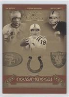 Jim Plunkett, Peyton Manning, Y.A. Tittle /50