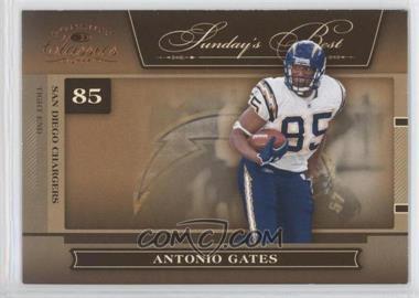 2006 Donruss Classics - Sunday's Best #SB-3 - Antonio Gates /1000