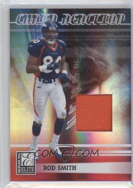 2006 Donruss Elite - Chain Reaction - Jerseys Prime [Memorabilia] #CR-14 - Rod Smith /99