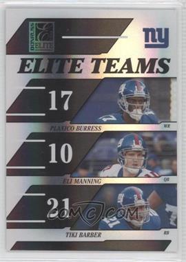 2006 Donruss Elite - Elite Teams - Black #ET-15 - Plaxico Burress, Eli Manning, Tiki Barber /1000