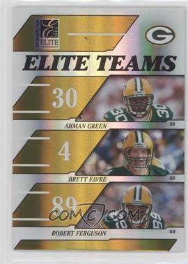 2006 Donruss Elite - Elite Teams - Gold #ET-8 - Ahman Green, Brett Favre, Robert Ferguson /250