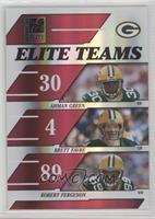 Ahman Green, Brett Favre, Robert Ferguson #/500