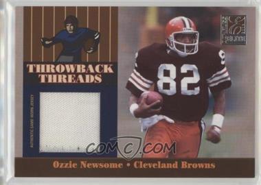 2006 Donruss Elite - Throwback Threads #TT-37 - Ozzie Newsome, Braylon Edwards /249