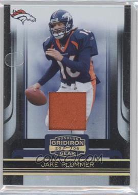 2006 Donruss Gridiron Gear - [Base] - Jerseys Prime [Memorabilia] #32 - Jake Plummer /25