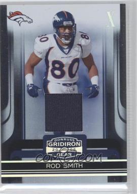 2006 Donruss Gridiron Gear - [Base] - X's Jerseys #33 - Rod Smith /100