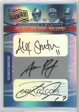 2006 Donruss Playoff Hawaii Trade Conference - Rookie Signatures Six #HRS-31 - Alex Smith, Aaron Rodgers, Jason Campbell, Charlie Frye, Stefan LeFors, Kyle Orton /5