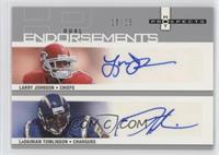 Larry Johnson, LaDainian Tomlinson #/25