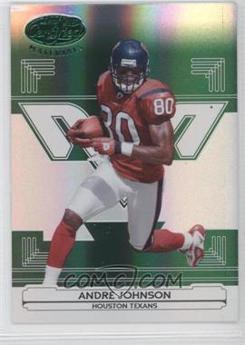 2006 Leaf Certified Materials - [Base] - Mirror Emerald #58 - Andre Johnson /5