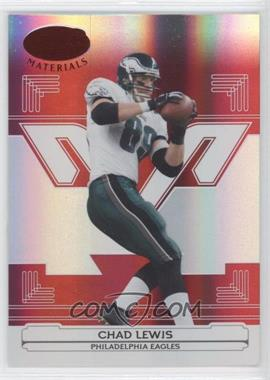 2006 Leaf Certified Materials - [Base] - Mirror Red #111 - Chad Lewis /100