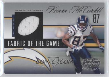 2006 Leaf Certified Materials - Fabric of the Game - Football Die-Cut #FOTG-105 - Keenan McCardell /100